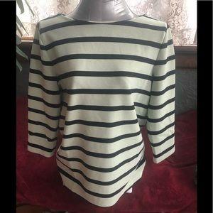 Ann Taylor Striped Long Sleeve Top